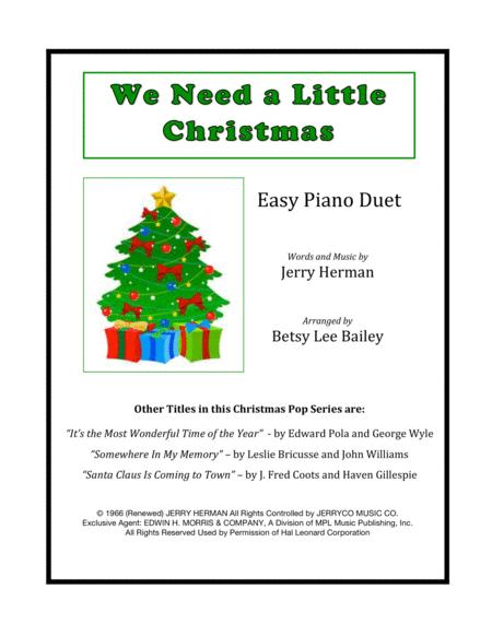 We Need A Little Christmas Easy Piano Duet