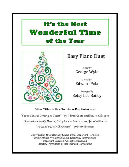 The Most Wonderful Time Of The Year Easy Piano Duet