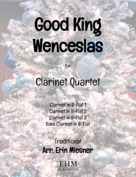Good King Wenceslas for Clarinet Quartet