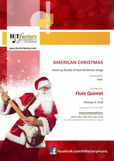 American Christmas - Mash up Rondo of best Christmas Songs - Flute Quintet