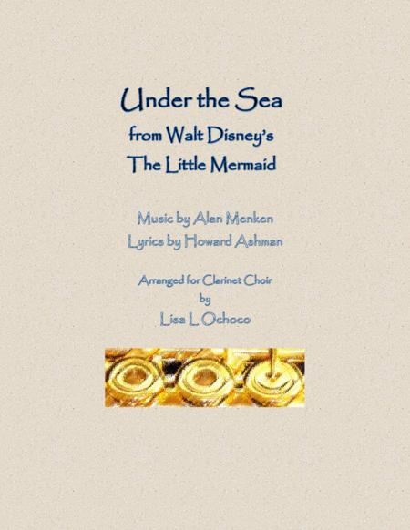 Under The Sea from Walt Disney's The Little Mermaid for Clarinet Choir
