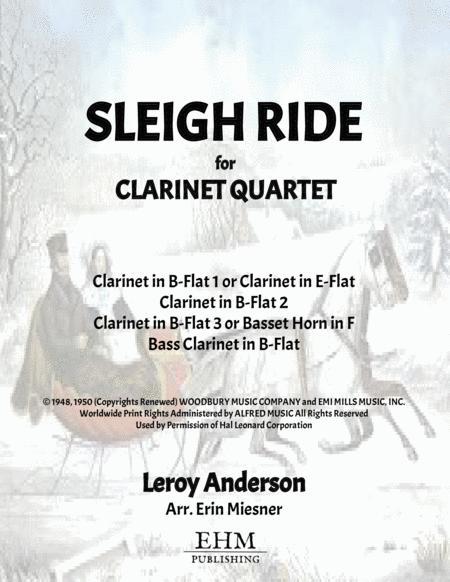 Sleigh Ride for Clarinet Quartet