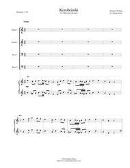 Korobeiniki (Korobushka) - for TTBB choir with piano accompaniment