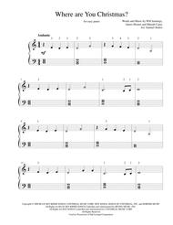 Where Are You Christmas? - for easy piano