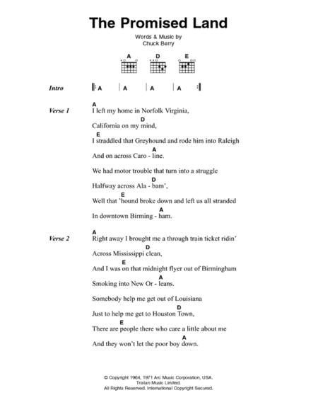 Download The Promised Land Sheet Music By Elvis Presley Sheet