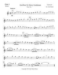 God Rest Ye Merry Gentlemen solo Flute, Duet, or Trio