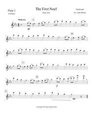 The First Noel Flute  solo,duet,trio  Intermediate level