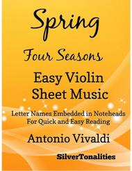 Spring Four Seasons Easy Violin Sheet Music