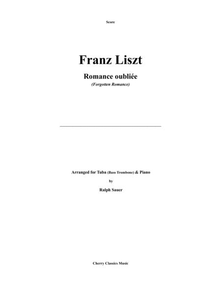 Romance oubliée (Forgotten Romance) for Tuba or Bass Trombone and Piano