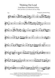 Thinking Out Loud - Lead Sheet in Published D Key (With Chords)