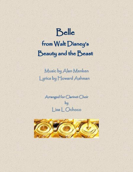 Belle from Walt Disney's Beauty and the Beast for Clarinet Choir