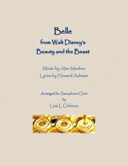 Belle from Walt Disney's Beauty and the Beast for Saxophone Choir