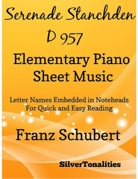 Serenade Number 4 Standchen D957 Elementary Piano Sheet Music