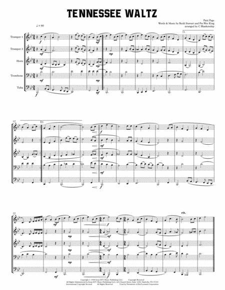 Tennessee Waltz for Brass Quintet