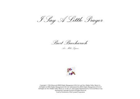 I Say A Little Prayer (Brass sextet)