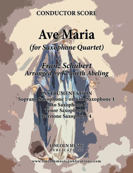 Ave Maria (for Saxophone Quartet SATB or AATB)