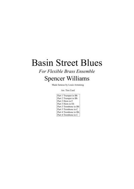 Basin Street Blues for Flexible Brass Quartet