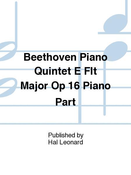 Beethoven Piano Quintet E Flt Major Op 16 Piano Part