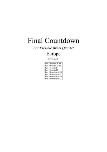 Final Countdown for Flexible Brass Quartet