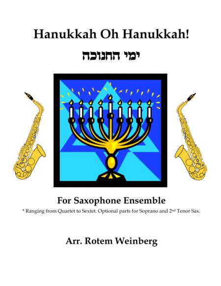 Hanukkah Oh Hanukkah - Saxophones