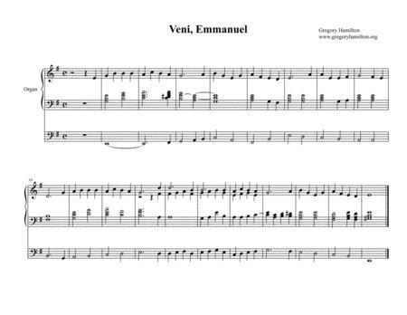 Veni, Emmanuel, O Come, O Come, Emmanuel Alternate Harmonization for Organ