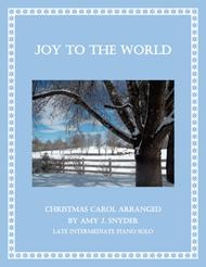 Joy to the World, late intermediate piano solo.