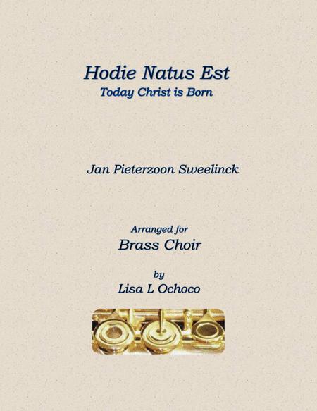 Hodie Christus Natus Est for Brass Ensemble
