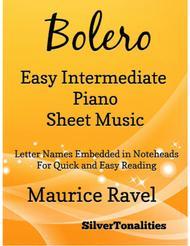 Bolero Easy Intermediate Piano Sheet Music