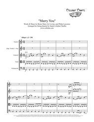 Marry You - String Quartet - Bruno Mars arr. Cellobat - Recording Available!