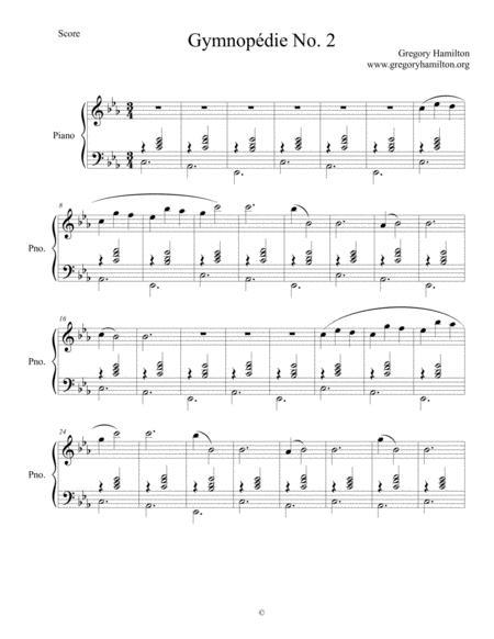 Gymnopédie No. 2 By Gregory Hamilton