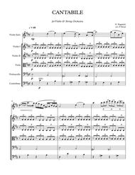 Paganini - CANTABILE for Violin and String Orchestra - score
