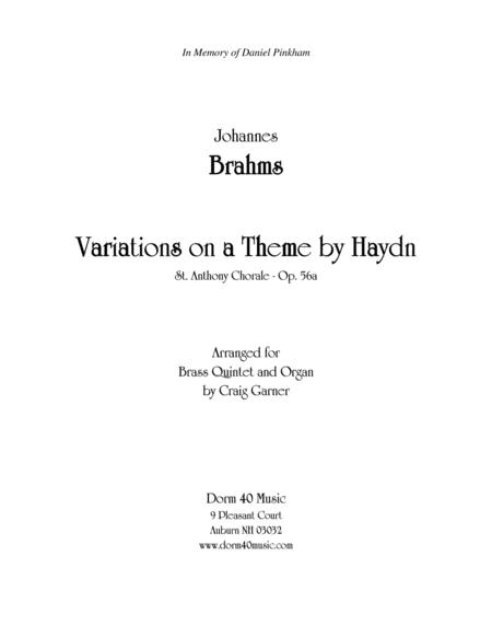 Variations on a Theme by Haydn (for Organ and Brass Quintet)