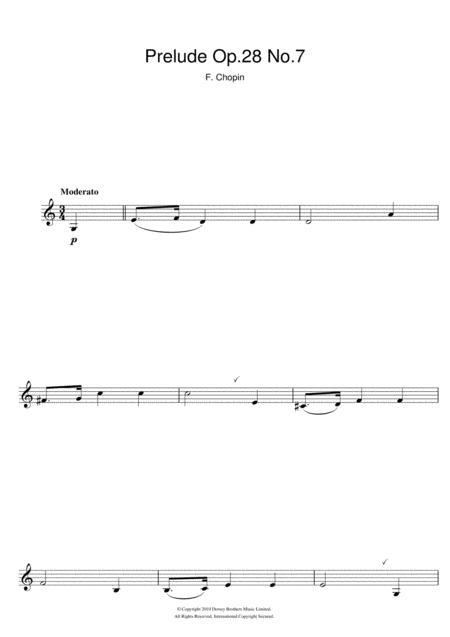Prelude Op.28 No.7