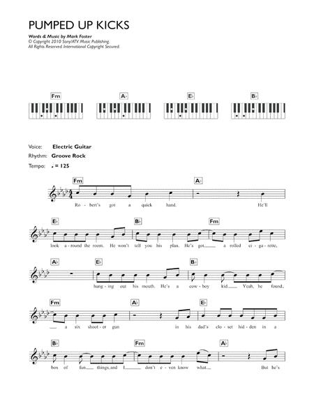 Download Pumped Up Kicks Sheet Music By Foster The People - Sheet ...