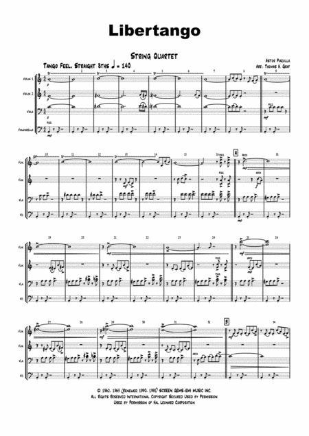 Libertango (shorter version) - Astor Piazolla - Tango Nuevo - String Quartet
