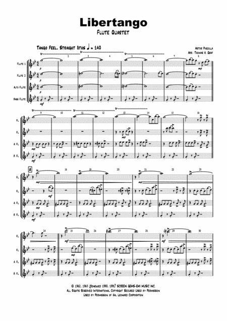 Libertango (shorter version) - Astor Piazolla - Tango Nuevo - Flute Quartet