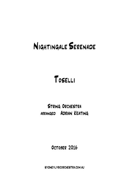 Nightingale Serenade - Toselli - String Chamber Orchestra - 6 parts - intermediate to professional ensemble