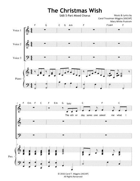 The Christmas Wish (SAB/3-Part Chorus)