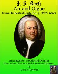 Bach: Air and Gigue from the Orchestral Suite No. 3 in D Major for Woodwind Quintet
