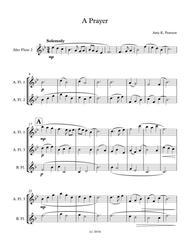 A Prayer - Quartet for Low Flutes