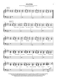 All Of Me (in original key), self-accompaniment version