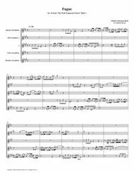 Fugue 16 from Well-Tempered Clavier, Book 1 (Saxophone Quintet)