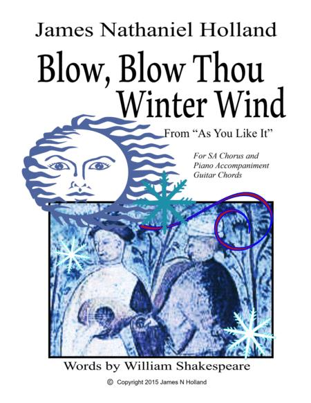 Blow Blow Thou Winter Wind Jazz Version arranged for SA Chorus