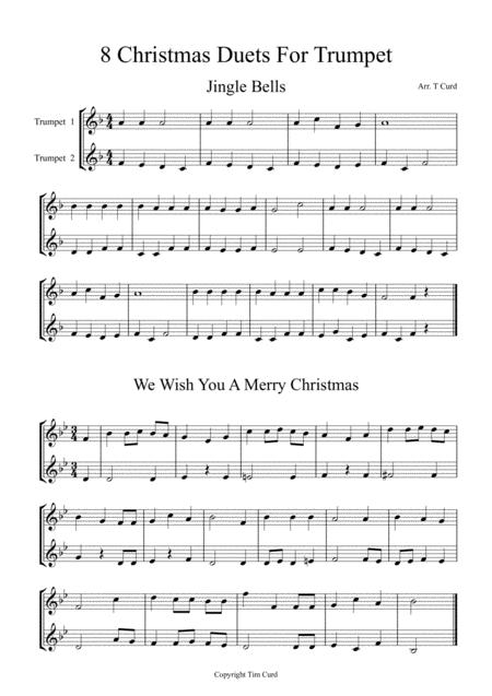 8 Christmas Duets For Trumpet