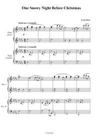 One Snowy Night Before Christmas for piano 4 hands