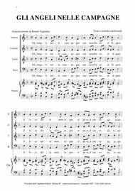 GLI ANGELI NELLE CAMPAGNE - For SATB Choir, Trumpet and. organ