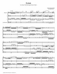 Prelude 18 from Well-Tempered Clavier, Book 1 (Bassoon Quartet)