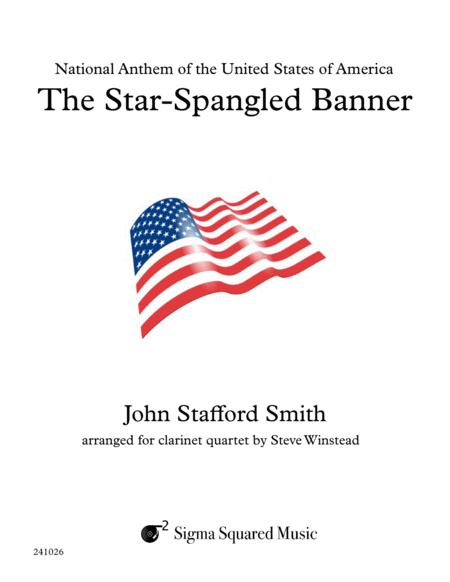 The Star-Spangled Banner for Clarinet Quartet or Choir