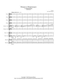 Faure: Masques et Bergamasques Op.112 Mvt.I Ouverture - wind Dectet