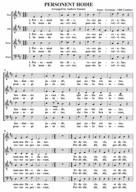 Personent Hodie A Cappella